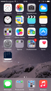 iPhone 6 SpringBoard