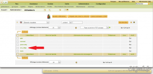 GLPI Liste utilisateurs après importation