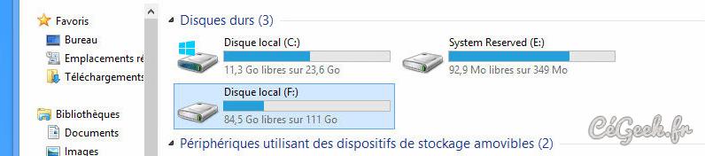 Verification disque dur