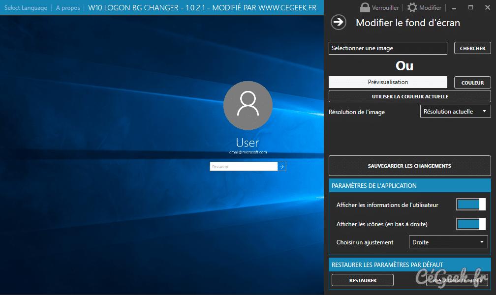 tuto windows 10 changer le fond d cran de la page de