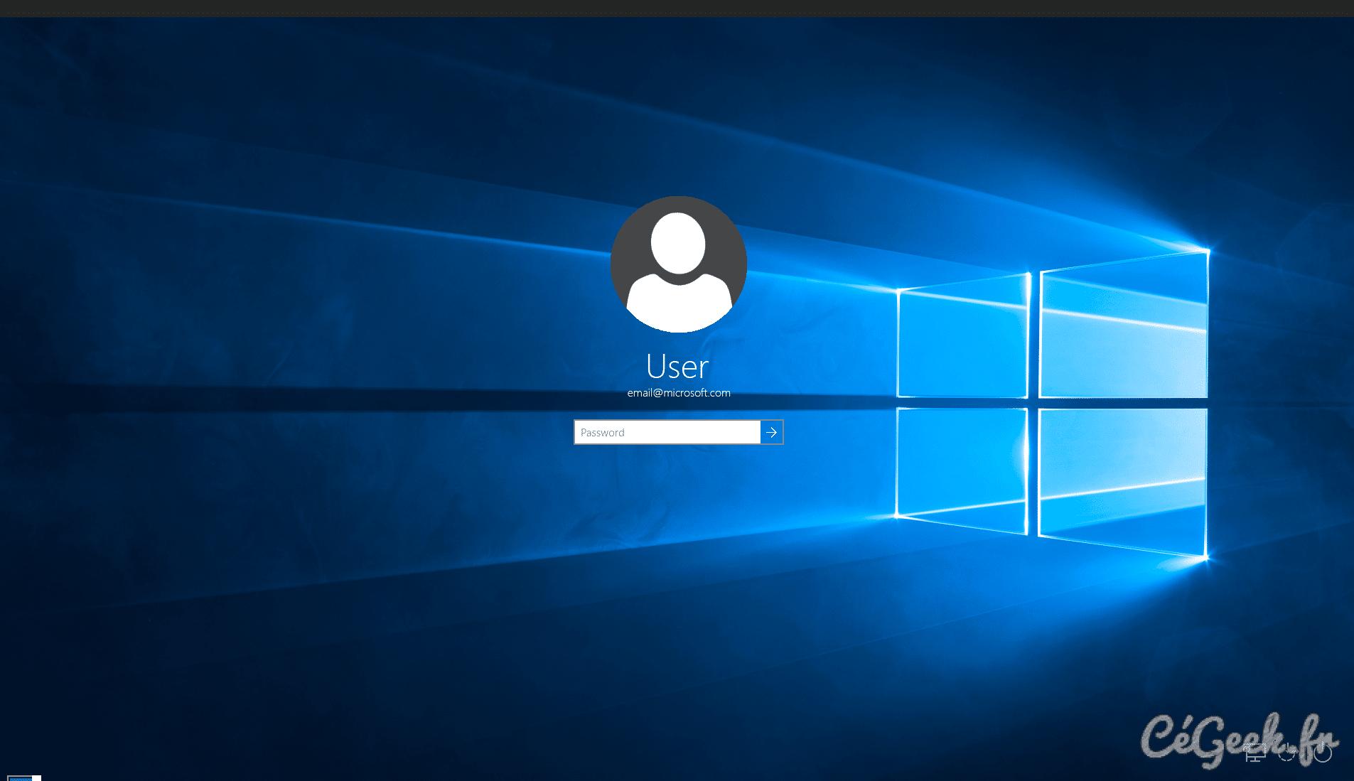 Tuto windows 10 changer le fond d cran de la page de for Screenshot ecran